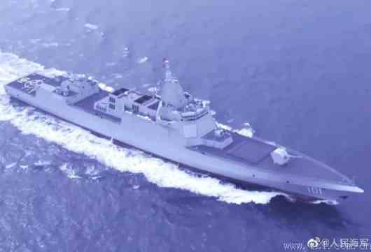 我军万吨级驱逐舰首舰海上航行画面曝光